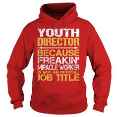 Awesome Tee For Youth Director T-Shirts, Hoodies. GET IT ==► https://www.sunfrog.com/LifeStyle/Awesome-Tee-For-Youth-Director-97826023-Red-Hoodie.html?id=41382