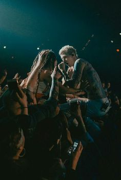 What I would do to be that girl! #handsoffmyman #mgk #estforlife Mgk Concert, Colson Baker, Insta Live, Young Guns, Machine Gun Kelly, Attractive People, Man Alive, Love Is Sweet, Cute Guys