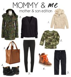 Mommy & Me - Fall {matching} Outfits - Mother & Son Edition Mom And Son Outfits, Outfits Niños, Baby Boy Outfits, Fall Outfits, Baby Boy Fashion, Toddler Fashion, Kids Fashion, Mommy And Son, Mom Son