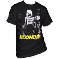 Blondie T-shirt - Debbie Harry on Stage Photograph. Men's Black Shirt