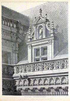 Detail of the facade of the Château de Blois
