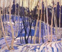 Tom Thomson Snow Shadows, 1916 Oil on Wood x cm Group Of Seven Art, Group Of Seven Paintings, Emily Carr, Canadian Painters, Canadian Artists, Landscape Art, Landscape Paintings, Oil Paintings, Tom Thomson Paintings