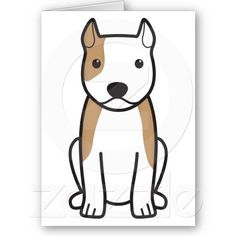 American Staffordshire Terrier Dog Greeting Card