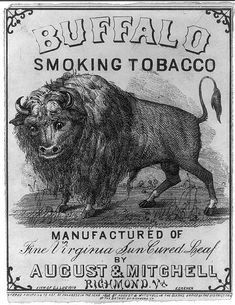 Buffalo smoking tobacco label.