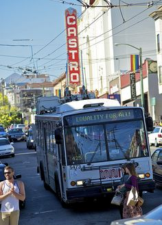 muni's pro-equality bus signage during pride weekend in san francisco this year. #sanfrancisco #muni #castrotheatre