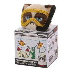 Buy GUND Box O Grump Grumpy Cat Goes Fishing from the Official Site, Limited Availability and Free UK Delivery. Hand washable and suitable from ages Grumpy Going Fishing, Grumpy Cat, Fish Tank, New Baby Products, Lunch Box, Elephant, Plush, Toys, Collections