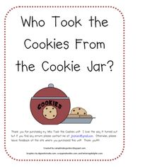 Cookie Jar Song Cool Who Stole The Cookie  Pinterest  Circle Game Cookie Jars And Jar