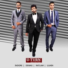 Whether a social gathering or a #rendezvous, pull off a #classy look wherever you go by wearing a classy #suit from U TURN.