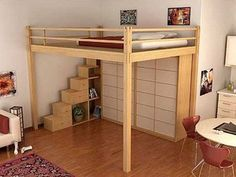 I assume that's a wardrobe under the bed?