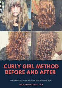 These Jaw dropping curly girl method before and after picture with routines is worth imitating. These Jaw dropping curly girl method before and after picture with routines is worth imitating. Make Hair Curly, Wavy Hair Tips, Wavy Hair Care, Curly Hair Routine, How To Make Hair, Natural Hair Care, Curly Hair Styles, Natural Hair Styles, Frizzy Wavy Hair