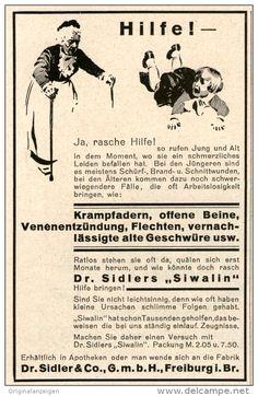 Original-Werbung/ Anzeige 1928 - DR. SIDLERS SIWALIN / FREIBURG i.B. -  ca. 70 x 110 mm