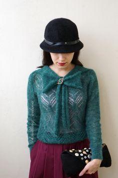 Блуза из мохера изумрудного цвета в разделе Вяжем сами на verena.ru