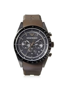 34% OFF Emporio Armani Men's AR5986 Sportivo Brown/Black Rubber Watch