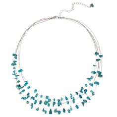 sterling turquoise wire necklace @nomorerack.com $16
