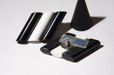 Large Judith Hendler Earrings  Modernist Runway by LuckyPatina