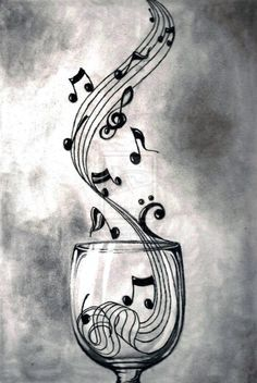 Flowing music pours out into swirls