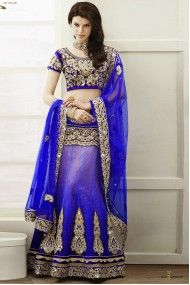 Brocade Lehenga Choli in Blue Colour 6409