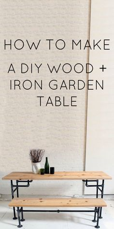 Iron and Wood Table and Bench building plans DIY