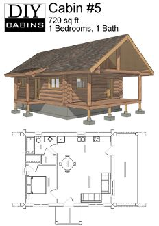 Log Cabin #3 lots of interior space to work with. Could see this as ...