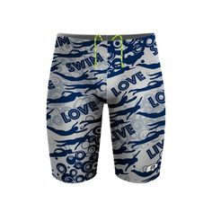 Swim Love Jammer. Show off your love for the best sport out there. #qswimwear #swimsuit