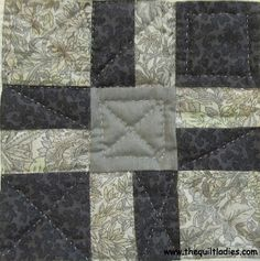 Quilt Pattern Nine Patch Tutorial and Pattern from The Quilt Ladies