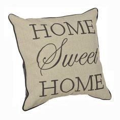 Gray Home Sweet Home Pillow | Kirklands