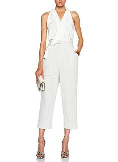 a55de10474 Off white silk and cotton  Judo Belt  jumpsuit from Phillip Lim featuring a  wrap style V neck