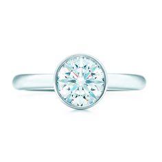 Tiffany Bezet round diamond engagement ring. #TiffanyPinterest