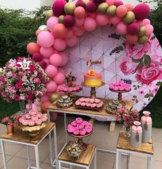 ✨Tag Your Friends Who'd Love This🎂. Deco Baby Shower, Fiesta Baby Shower, Baby Shower Themes, Shower Ideas, Baby Shower Balloon Decorations, Baby Shower Balloons, Birthday Party Centerpieces, Birthday Decorations, 15th Birthday