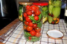 Pomidorki koktajlowe w zalewie po włosku - Ogrodnik w podróży Preserves, Homemade, Vegetables, Cooking, Funeral, Kitchen, Preserve, Home Made, Preserving Food