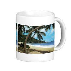 Tropical beach painting mugs