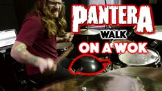PANTERA - Walk - Drum Cover (WOK AS A SNARE!!)