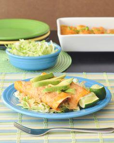 creamy tortilla soup enchiladas - tasty and easy Cinco de Mayo recipe!