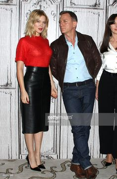 """Actors Lea Seydoux and Daniel Craig attend AOL BUILD Series Presents: """"Spectre"""" at AOL Studios In New York on November 2015 in New York City. Get premium, high resolution news photos at Getty Images Daniel Craig Style, Daniel Craig James Bond, Lea Seydoux Style, James Bond Style, James Bond Theme, James Bond Actors, Daniel Graig, Z Cam, Bond Girls"""