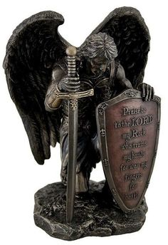 Praise Be to the Lord My Rock Angel Statue