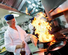 Chef at work Royalty Free Stock Photo