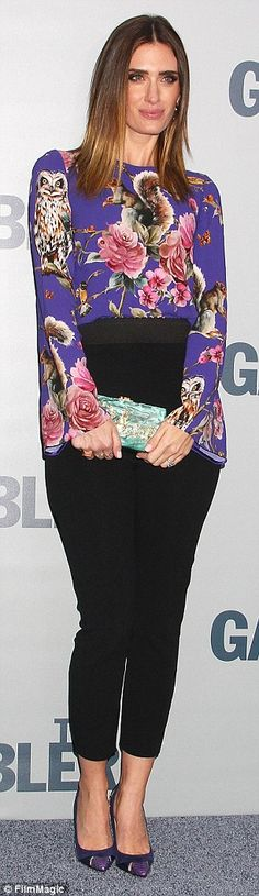 who designed this amazing top??? Rhea Durham at premiere for The Gambler | Daily Mail Online
