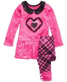 Nannette Little Girls' 2-Piece Sequin Collar Tunic & Leggings Set - Kids - Macy's