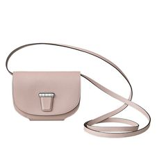 Mini Convoyeur Wallet with removable strap in Evercolor calfskin. Inside: one pocket and a zipped change pouch. Silver- and palladium-plated clasp. Closed dimensions: 11.5 x 15 cm Perfect for a day's shopping, to slip into your shopping bag or wear over the shoulder to keep your hands free. WIsteria