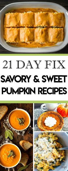 Enjoy the Thanksgiving and Christmas holidays without guilt with these delicious 21 Day Fix pumpkin recipes. Savory and sweet options! Thanksgiving Recipes, Fall Recipes, Holiday Recipes, Healthy Recipes, Thanksgiving Holiday, Healthy Food, 21dayfix Recipes, Healthy Eating, Keto Recipes