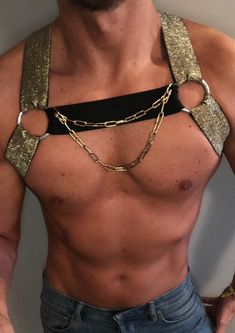main color: -Gold -Silver -copper color: -Black -White Size S to XL (to specify in your message when ordering) Making on request Be Original Be Yourself *. Mens Innerwear, Gay Costume, Kitten Play Collar, Music Festival Outfits, Hot Hunks, Harajuku Fashion, Attractive Men, Mode Inspiration, Leather Men