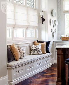 I have always loved a window seat and am planning one (or three!) in our new build. It can provide the perfect reading nook or relaxation space.