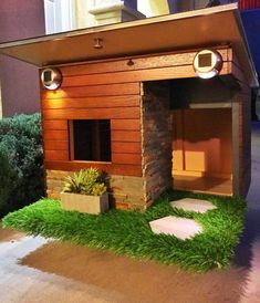 DIY Dog House Ideas For Crafty (And Not-So-Crafty) Dog Lovers - DIY Booster - Tap the pin for the most adorable pawtastic fur baby apparel! Youll love the dog clothes and cat clothes! Modern Dog Houses, Custom Dog Houses, Cool Dog Houses, Amazing Dog Houses, Modern Homes, Dog House Plans, House Dog, Luxury Dog House, Large Dog House
