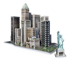 Reach for the sky by assembling the tallest and most famous skycrapers of the Financial disctrict of New York City. This 925 pieces 3D puzzle includes Trump Building (1930), Battery Park and the iconic Statue of Liberty (1886). Combine all 4 puzzles of the New York Collection. and get a 3D puzzle of over 3 575 pieces.