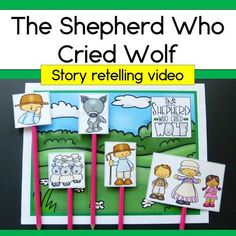 This is a short retelling of the fable, The Shepherd Who Cried Wolf.