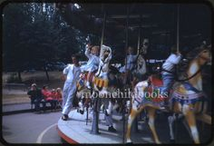 2 vintage 1959 WOODLAND PARK ZOO merry-go-round photo slide SEATTLE carousel   Collectibles, Photographic Images, Contemporary (1940-Now)   eBay!