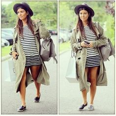 When it comes to stripes, go with horizontal. | 14 Maternity Wear Tips Kourtney Kardashian Taught Us In 2014