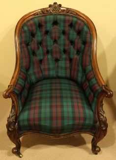 Elegant Plaid Chair  Equestrian Feel | For The Home | Pinterest | Plaid, Tartan And  Tartan Chair