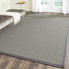 Natural Fiber Grey Brown / Grey Indoor Rug