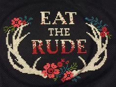 Eat the rude cross stitch